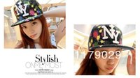Wholesale New Hot NY Letter Baseball caps Fashion Men and Women Graffiti Cap Hip Hop Hat Summer NY Snapback Hats