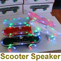 aes usb - MP3 MP4 Wireless Hifi Music Player RGB Light Speakers Mini Electric Scooter Bluetooth Speakers Portable USB Outdoor TF Card Wireless Speaker
