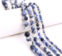 Wholesale High Quality Naturalsodalite stone Loose Spacer Beads Jewel Making For Jewelry Diy Bracelet Beads Strand