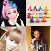 asian hair cuts - Cut Halloween Party Hair Accessories Devil Horn Hairpin Girls Fashion Corner Hair Clip Headwear Colors