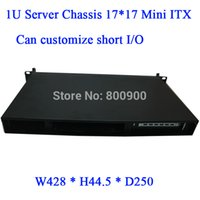 Wholesale itx ipc mini itx case Mini ITX chassis short U chassis U server chassis firewall computer motherboard chassis