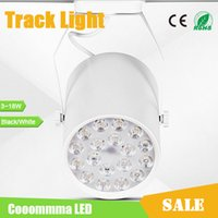 Wholesale Track Lighting Black LED Track Lamp W W W W W W AC85 V Angle Track and Ceiling Mounting White or Black Shell