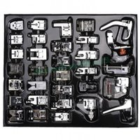 Wholesale 32pcs Domestic Sewing Machine Presser Foot Feet Braiding Blind Stitch Darnign Kit For Brother For Singer For Janome