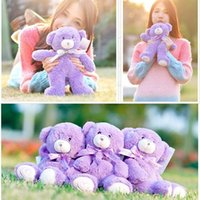 bear facts - 2015 High quality Lovely Bridestowe Stuffed Lavender Bear Animals Plush Purple Teddy Toys Doll Filling Wheat Lavender For Birthday Gift Fact