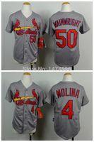 adam kid - 2015 New Youth Baseball Jersey St Louis Cardinals Yadier Molina Adam Wainwright Kid Gray S XL