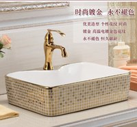 Wholesale Continental basin art ceramic toilet lavabo the basin that wash a face on stage