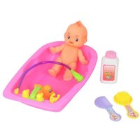 bathroom accessories ideas - Baby Doll In Bath Tub With Duck And Bathroom Idea Accessories Set Toy Supplies FM0434
