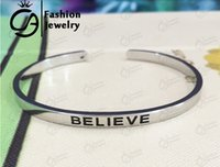 personalized gifts - 2015 Trend Silver Hand Stamped Personalized Message Stackable Inspirational Mantra Cuff Bangle Bracelet For Women Gift Jewelry