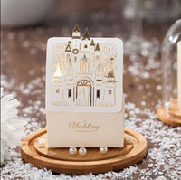 Wholesale Castle Candy - Romantic Castle Favors And Gifts Baby Shower Elegant White Luxury Decoration Laser Cut Party Wedding Paper Candy Box For Guest