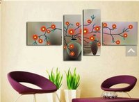 Wholesale 100 hand painted oil painting oil paintings p combination of flowers decorative wall art painting