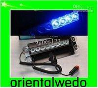 Coche 8 luz de advertencia de la emergencia del flash de la cubierta del estroboscópico de la rociada del LED azul NUEVA venta superior nueva envío libre