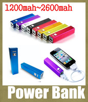 Wholesale iphone portable charger multi power charger lipstick power bank mah usb travel charger external backup battery charger universal POB004