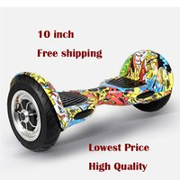 Wholesale 10 inch Big Tire Two Wheel Standing Self Balance Electric Scooter Drift board w high power battery