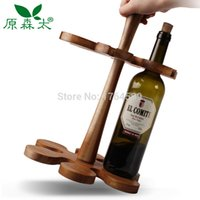 acacia wine - Creative Acacia Wood Bar Beer Wine Rack Wine Holder Wine Accessories Whisky Glass Cup Bottle Holder