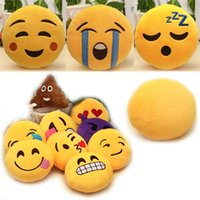 wholesale novelty items - New Arrivals Novelty Items Pendant Toy Doll Decoration Soft Stuffed Plush Cotton Emoji Smiley Emoticon Inch PA1