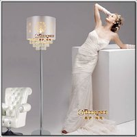 Wholesale Modern Crystal Floor Lamp Floor Stand Light Fixture FL10003