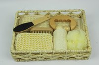 gift basket supplies - Corporate gifts Party Supplies Basket gift for shower family and baby naturism bathroom accessories set