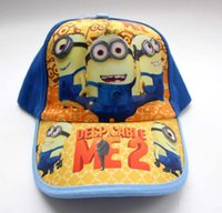 Wholesale High quality Summer New Arrival Hot Cartoon Despicable Me designed Children Hat Minions Kid Boys Girls Baseball Caps H1023