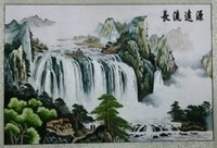 Wholesale chinese handwork silk embroidery Chinese landscape