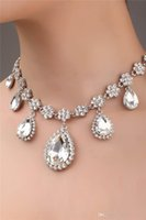 hair fall - Fall Bridal Hair Accessories Silver Bead Crystals Droped Water Bridal Hair Tieres Earring And Necklace Set Sparkle Wedding Decoration