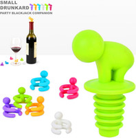 glass bottle stopper - 160pack Cartoon Creative Silicone Wine Bottle Stopper With Glass Cup Marker For Recognition Cup Champagne Bottle Stopper