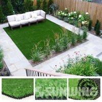 Artificial Plants artificial grass mat - NEW sqft Lawn Artificial Grass Carpet Synthetic Tiles Plastic Grass Mats SGS High Quality A