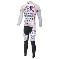 Wholesale 2015 New Classical Retro Cycling Jersey Long Sleeve Word English Style Cycling Jersey Set Clothing MTB ropa ciclismo