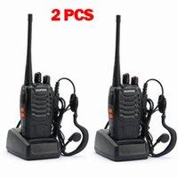 uhf radio portable - 2pcs MHz BaoFeng BF S Earpiece Civilian handheld radio UHF Portable way Radio Walkie Talkie
