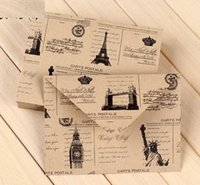 architecture styles - mm New Cute Vintage Europe style Architecture DIY Multifunction Horizontal version Craft paper envelopes