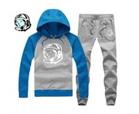 Cheap BBC Billionaire Boys Club Men high quality men's cotton HIP HOP Hoodies black and blue hoodie +pants