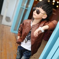 baby boy leather jacket - New boys casual jacket long sleeve high quality leather jacket baby boy spring outwear boy leather coat