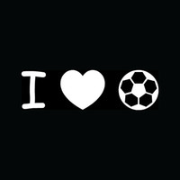ball goals - Car Stickers I Love Soccer Silhouette Sticker Heart Vinyl For Car Window Decal Ball Sport Boy Girl Goal Kick