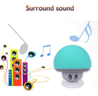 Wholesale New Cool Gadgets Colorful stand holder Mini Bluetooth Speaker Mushroom Speaker With Mic And Suction Cup For Mobile Phone