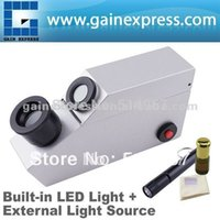 Wholesale Gem Gemstone Gemology Refractometer w built in LED external Light Source Index Oil Polarizing Filter RI range
