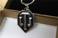 Wholesale HOT Sale WoT World of Tanks Metal Keychain Pendant Keyring