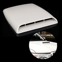 Wholesale 2015 Brand New Car Decorative Air Flow Intake Hood Scoop Vent Bonnet Cover White Universal Fashion Stylish Car Stickers
