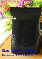 ziplock bag - x35cm Thick mm Light Proof In Black Self Sealing Zipper ZipLock Plastic Package Clip Chain Bags