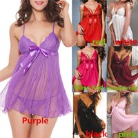 xxl sexy - New Arrivals Women s Lady s Sexy Lingerie Set Negligee G string Condole Belt Suit Short Skirt Lace Bow IG182