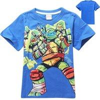 teenage fashion - Girl S Tops Girls Fashion Shirts Hot Years baby Kids Boys Teenage Mutant Ninja Turtles T Shirt Cotton Children s Short sleeved