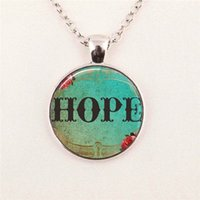 art faith - Glass Art Picture Necklace Faith Believe Hope Necklace Religious Christian Jewelry Round glass gemstone necklace