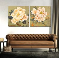 painting - Hot Classical Continental Home Decor Mural Paintings Chinese Modern Oil Paintings Flower Frameless Painting