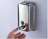 Wholesale 500ml Bathroom Wall Mounted Stainless Steel Liquid Soap Dispenser Soap Box