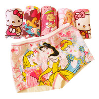 Wholesale 10Pcs Girl Panties Baby Kids Pants Children Briefs Princesses Girl Cute Boxer Underwear Boxer Shorts Soft Cotton Cartoon High Quality