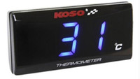Wholesale KOSO Scooter Slimline Oil Water Thermometer Water Temperature Gauge LED Display Blue Light w M10 Thermometer Sensor