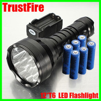 Wholesale TrustFire Lm x CREE XM L T6 LED Flashlight Torch Light Battery Charger