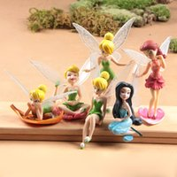 tinkerbell - High Quality girl s toy PVC Tinkerbell Fairy Adorable Figures set Action Figures children toys EMS DHL