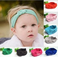Wholesale 2015 Best selling Baby Girls Hair Braided With Children Safely Cross Knot Hair Accessories Headband