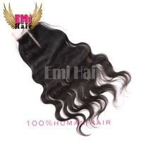 Wholesale The Best A Virgin Human Hair Cheap Lace Closure Unprocessed Brazilian Human Hair Body Wave Closures