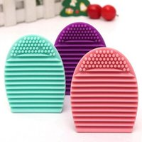 Wholesale Brushegg Silicone Brush Cleaning Egg Brush egg Cosmetic Brush Cleanser Make up Makeup Brush Cleaner Clean tools