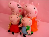 Wholesale Peppa Pig George Pig Plush Mom Daddy Toy Doll Peppa pig Family Set of large size cute kids toddler toys pink
